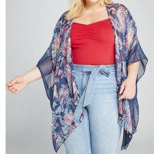 Shimmering Paisley Kimono